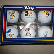 Disney Club de Golf Balls Pro Collection Set of 6 Original Box