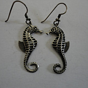 Vintage Seahorse Pierced Earrings