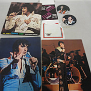 Vintage Elvis Presley Sahara Tahoe Concert Menu Photo Albums Buttons Napkin Table Card