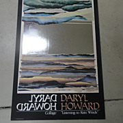 Daryl Howard Listening to Rain Winds Signed Collage  Poster