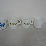 Vintage Lot 4 Fire King Mugs Coffee Cups