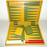 Vintage Backgammon Game Set