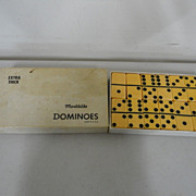 Vintage Extra Thick Marblelike Butterscotch Plastic Dominoes