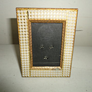 Vintage Pearl Lined Picture Frame