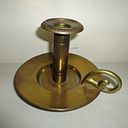 Vintage Bradley and Hubbard Brass Finger Candlestick  Arts and Crafts