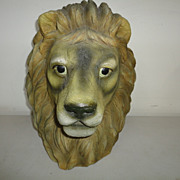 Vintage Lion Head Carnival Figure