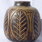 SALE 1950s Denmark Studio Stoneware Vase by Gerd Bogelund for Royal Copenhagen