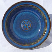 Gustavsberg Sweden Art Pottery Advertising Bowl