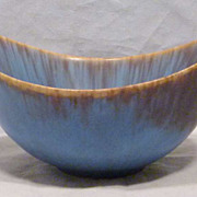 Rorstrand Sloped Bowl Exceptional Glaze by Gunnar Nylund