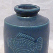 REDUCED Gustavsberg Wilhelm Kage Verkstad Studio Pottery Fish Vase 1950s