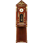 French Empire Egyptian Revival Tall Case Clock c. 1890-1910, RJ Horner