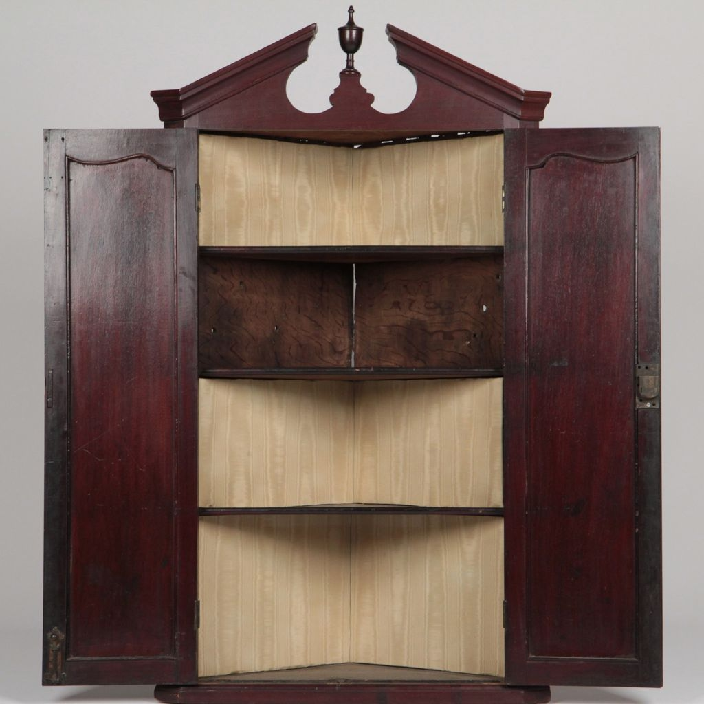 ... From Vintage Hanging English Cupboard, Cabinet Corner Antique Cupboard  Hanging Or Chippendale ...