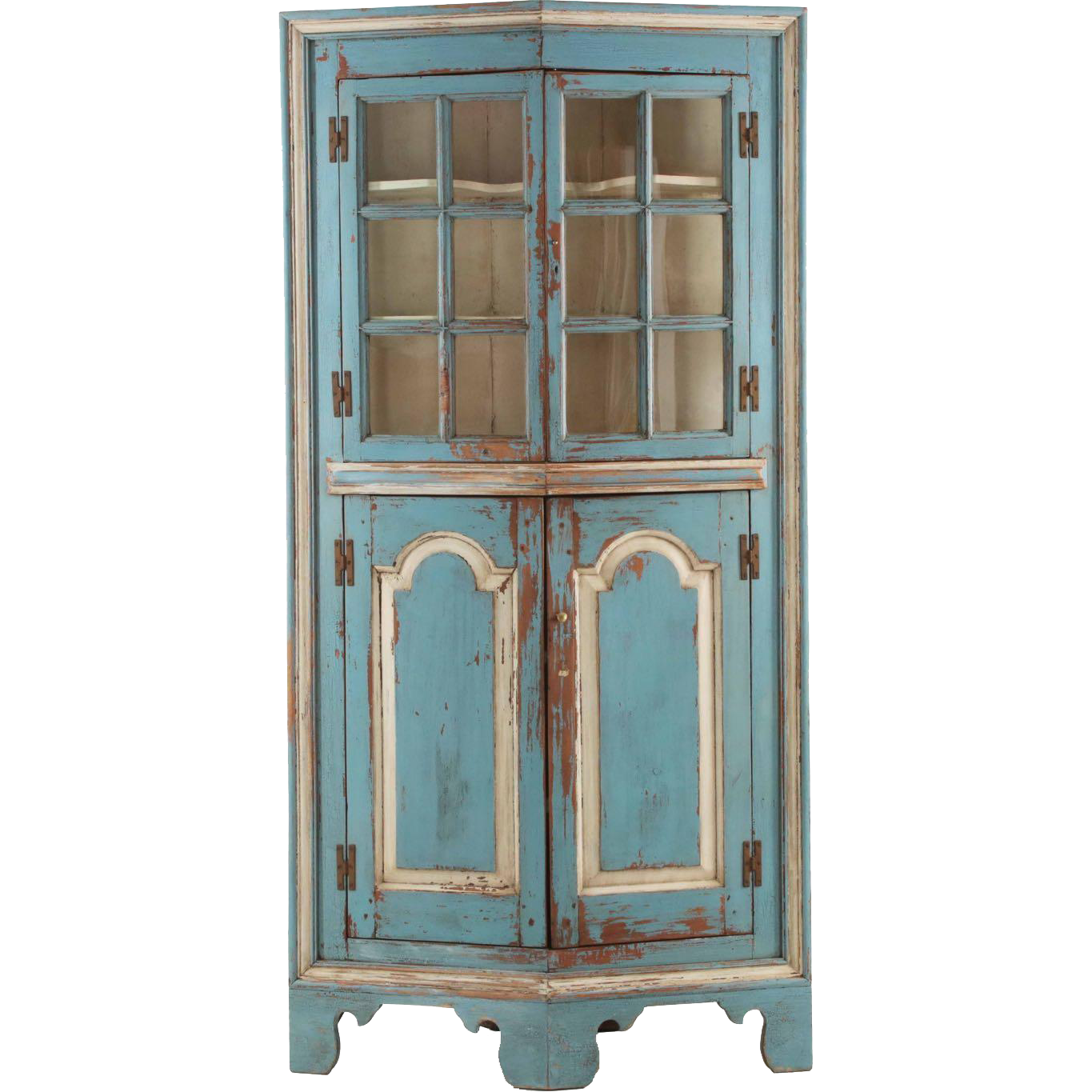 American Chippendale Raised Panel Antique Corner Cabinet Possibly From Sillafineantiques On