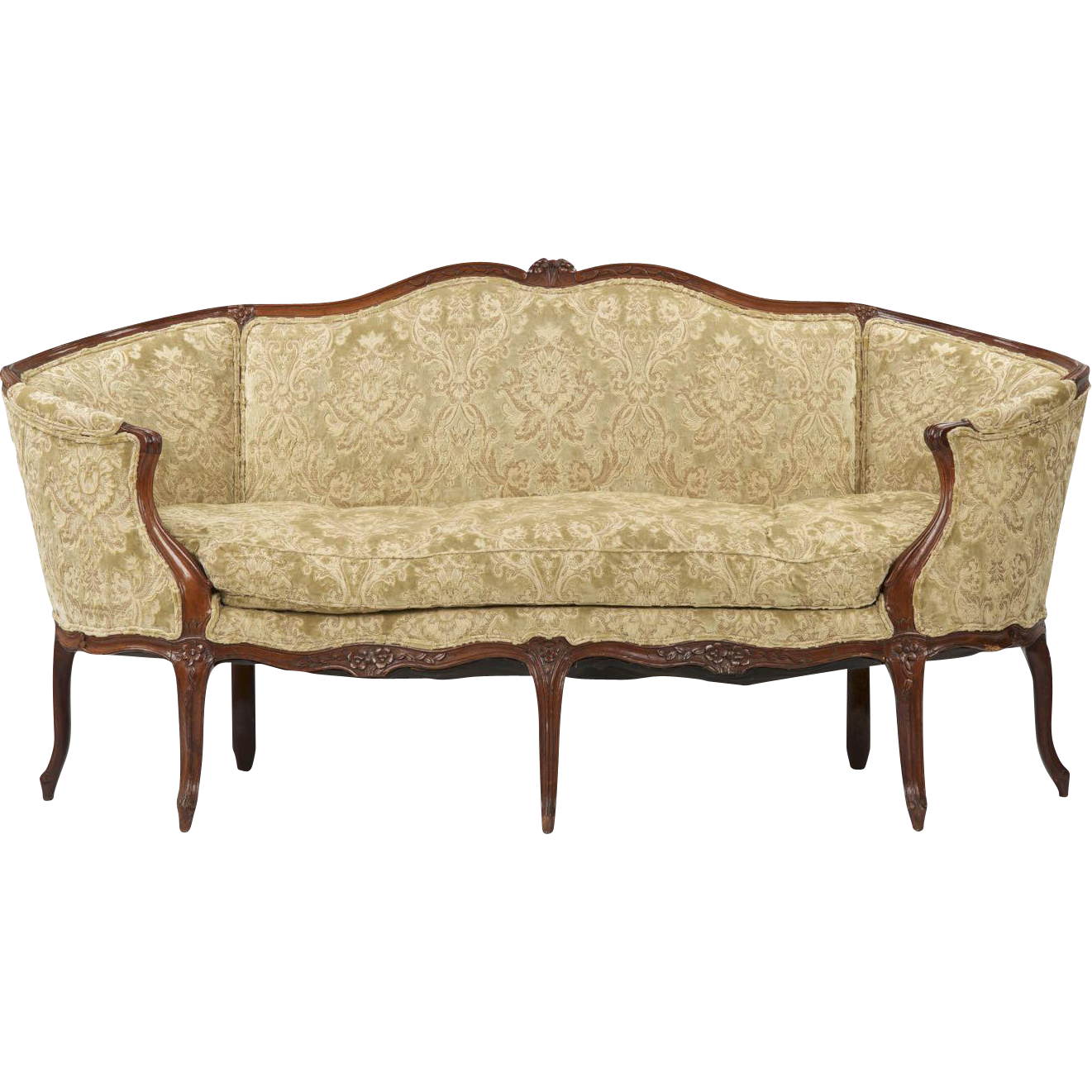 Louis xv french antique canape settee c 1750 from - Canape suedois vintage ...