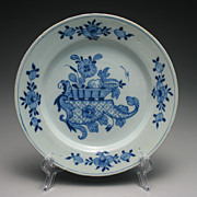 REDUCED Antique 18th Century Delftware Tin Glaze Ceramic Plate