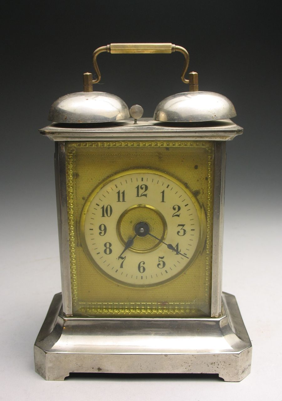 Antique Junghans Two Bell Alarm Carriage Clock
