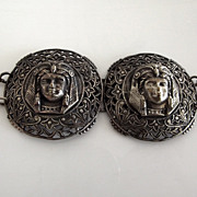 Wonderful Egyptian Revival Silver Tone Belt