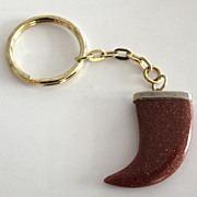 Goldstone Tusk Key Chain