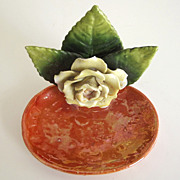 Germany Lusterware Flower Trinket Dish