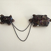 Sequin and Seed Bead Hand Made Turtle Chatelaine