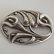Sterling Calla Lilies Pin