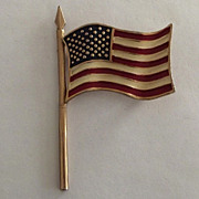 Marvella Enamel American Flag Pin