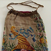 Antique Microbeaded Bag with Cornucopia Design