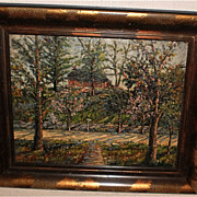 Impressionist Oil Painting of Cherry Blossom Trees-Jacob Greenleaf