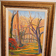 """Woods In My Back Yard"" Oil Painting-Fauve-August Mosca"
