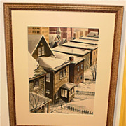 My Neighborhood-Snow on Houses-Jersey City-1952-William Gorman