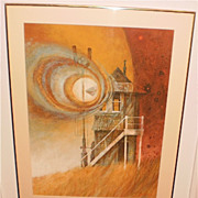"""Signal Tower"" Painting-1987-Henry Gasser award winner-William Gorman"