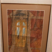 "William Gorman-N.A.-""Victorian Door"" Casein Painting-1973"