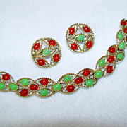 Sarah Coventry Bracelet and Earrings Set 1969 Acapulco