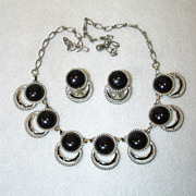 Sarah Coventry Necklace Earrings Bold N Beautiful 1950's