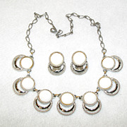 Sarah Coventry Necklace Earrings Bold N Beautiful 1960's Issue