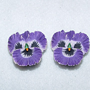 Earrings Perky Pansy Little Elf Faces Smiling Through The Garden