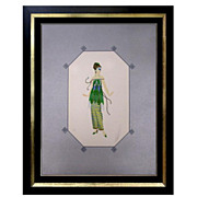 "Erte' ""Dinarzade"" print true pureart deco must sell but not sculpture yet"