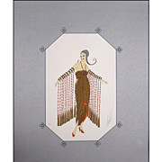 "Erte' ""Zobeide"" print true look of the Erte costumes and people of the 1920's"