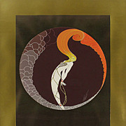 "SOLD Erte' print of ""Love"" from the suite the 4 feelings? Art Deco work of art."