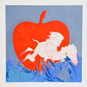 Robert Beauchamp Title Camel and Red Apple Year no reserve listed artist low $