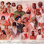 Races of Mankind the people in our world date 1911 medium early litho