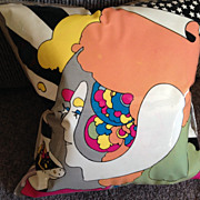 Peter Max - Original 1960s Inflatable Cushion. Measures 40 pop art 60's history