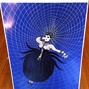 Erte' Original Serigraph limited Spider Woman Erte' People Hand Pulled reduced COA