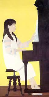 "Will Barnet print heavy stock ""Girl at Piano""  woman  reads book with bird cat in tree1st picks collectors wany; Will Barnet the Caller"