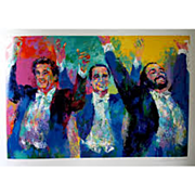 "SOLD Leroy Neiman NYC print  ""Broadway  the lights at nite"" great shape museum frame"