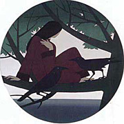 Will Barnet Woman the Sea ,Solitude 1981 Art print from the publisher best price image ...