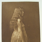 Edward CurtisPrimitive dress Quinault Photogravure 1912 Native American RARE
