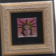 "peter max print  ""Lady Liberty"" great shape museum framed Vip collectors gift from a"