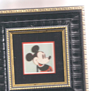 "Andy Warhol Original ""Mickeyt"" invite framed copyright Warhol foundation and Disney"
