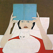 SOLD Will Barnet  print Woman Reading  Will Barnet the day Will's art went global Icon of work